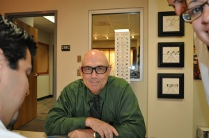 Dr. Chapman, UIWRSO Clinic Director, trying on some frames!