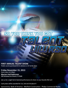 UIWRSO Talent Show Flyer