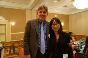 Dr. Stanfield is on the scholarship committee with Susan Ly, Scholarship recipient